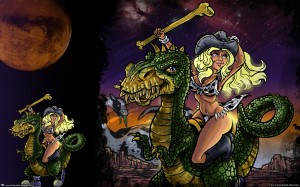 Cowgirl Lucy and the Dinosaurs of Mars Wallpaper